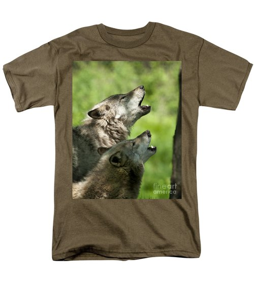 Men's T-Shirt  (Regular Fit) featuring the photograph The Howling by Wolves Only