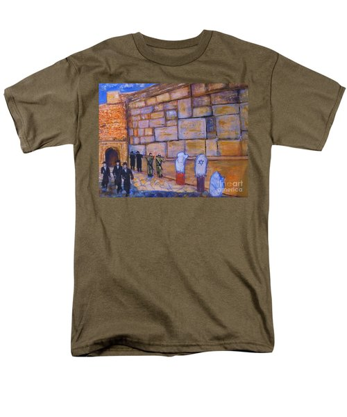 Men's T-Shirt  (Regular Fit) featuring the painting The Kotel by Donna Dixon