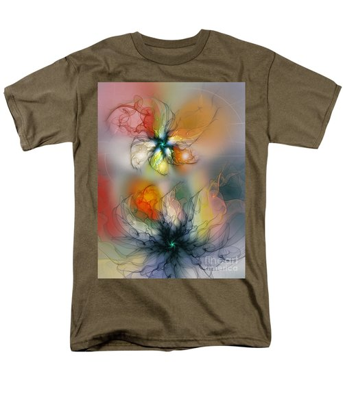 The Lightness Of Being-abstract Art Men's T-Shirt  (Regular Fit) by Karin Kuhlmann