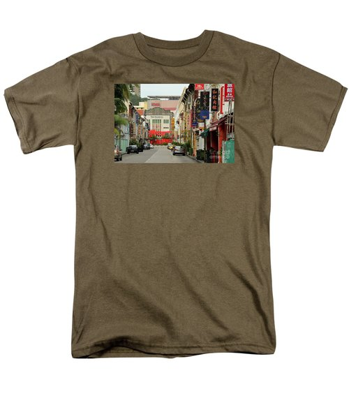 Men's T-Shirt  (Regular Fit) featuring the photograph The Majestic Theater Chinatown Singapore by Imran Ahmed