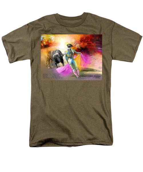 The Man Who Fights The Bull Men's T-Shirt  (Regular Fit) by Miki De Goodaboom
