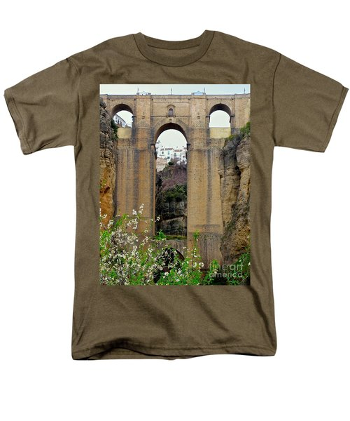The New Bridge Men's T-Shirt  (Regular Fit) by Suzanne Oesterling