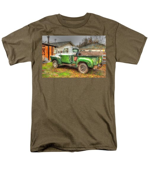 Men's T-Shirt  (Regular Fit) featuring the photograph The Old Green Truck by Jim Thompson