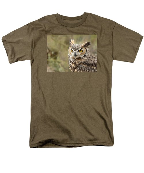 Men's T-Shirt  (Regular Fit) featuring the photograph The Owl by Lucinda Walter