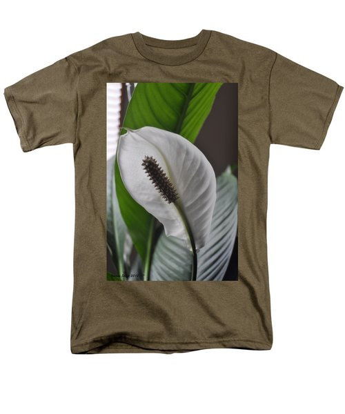Men's T-Shirt  (Regular Fit) featuring the photograph The Peace Lily by Verana Stark