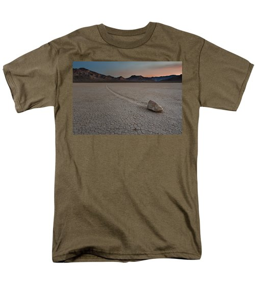 The Racetrack At Death Valley National Park Men's T-Shirt  (Regular Fit) by Eduard Moldoveanu