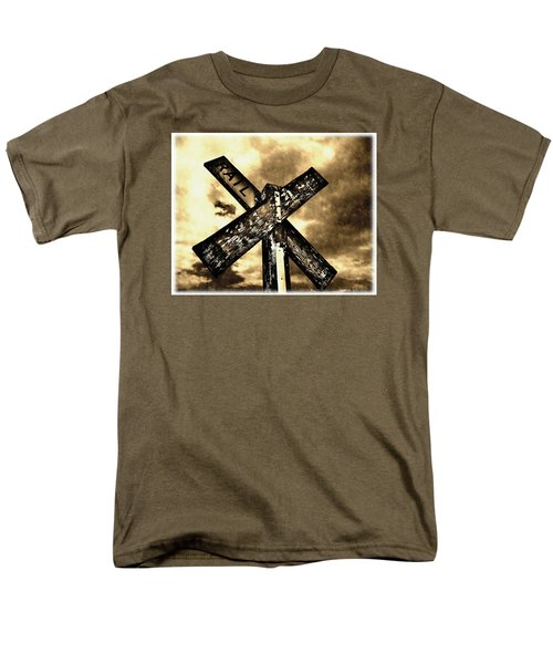 Men's T-Shirt  (Regular Fit) featuring the photograph The Railroad Crossing by Glenn McCarthy Art and Photography