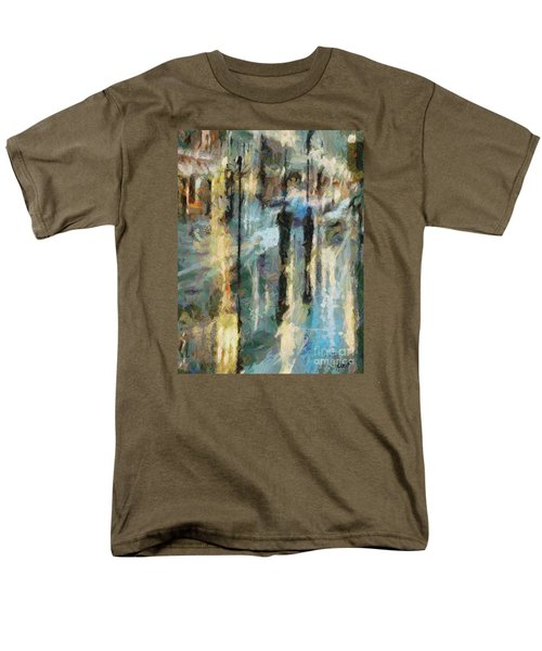 Men's T-Shirt  (Regular Fit) featuring the painting The Rain In Paris by Dragica  Micki Fortuna