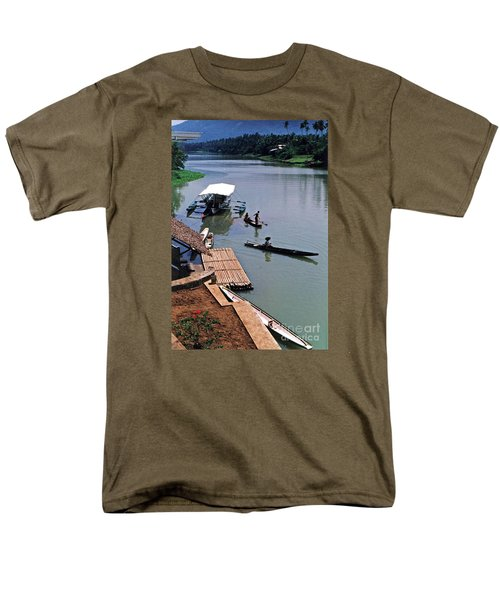 The River Leading To Pagsanjan Falls In The Philippines Men's T-Shirt  (Regular Fit) by Jim Fitzpatrick