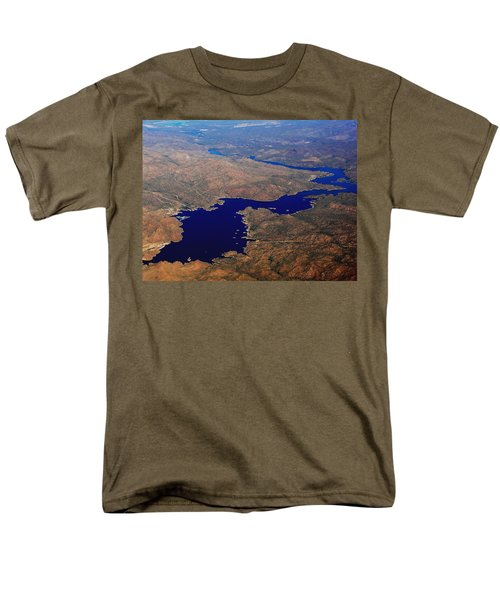 Men's T-Shirt  (Regular Fit) featuring the photograph The River Winds by Natalie Ortiz