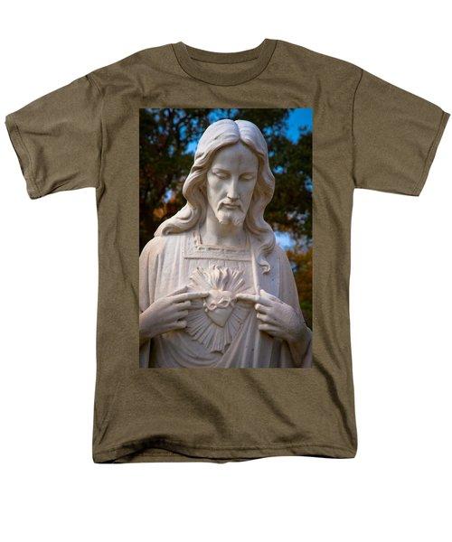 The Sacred Heart Men's T-Shirt  (Regular Fit) by Linda Unger