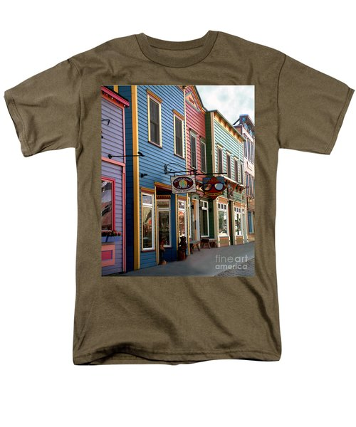 Men's T-Shirt  (Regular Fit) featuring the photograph The Shops In Crested Butte by RC DeWinter