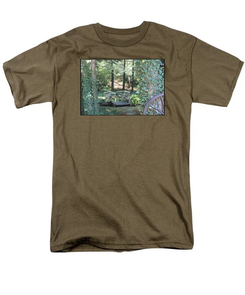 Men's T-Shirt  (Regular Fit) featuring the photograph The Path by Debra     Vatalaro