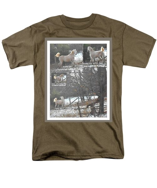 The Stallion Lives In The Country Men's T-Shirt  (Regular Fit) by Patricia Keller