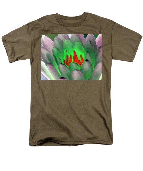 Men's T-Shirt  (Regular Fit) featuring the photograph The Water Lilies Collection - Photopower 1123 by Pamela Critchlow