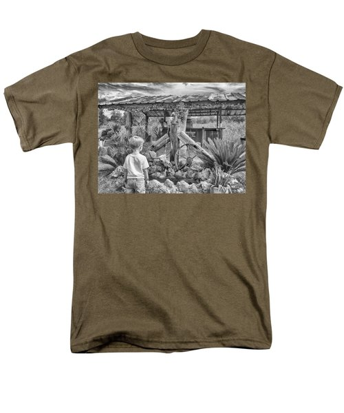 Men's T-Shirt  (Regular Fit) featuring the photograph The Watering Hole by Howard Salmon