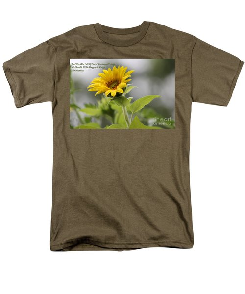The World Is Full Men's T-Shirt  (Regular Fit) by Leone Lund
