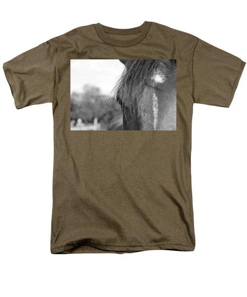 Thoroughbred B/w Men's T-Shirt  (Regular Fit) by Jennifer Ancker