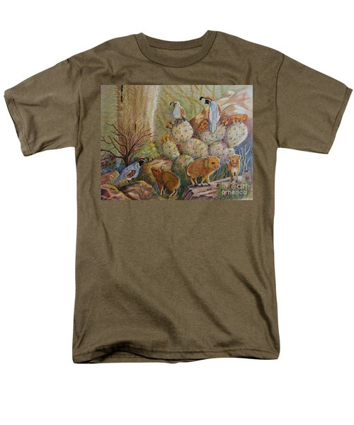 Three Little Javelinas Men's T-Shirt  (Regular Fit) by Marilyn Smith
