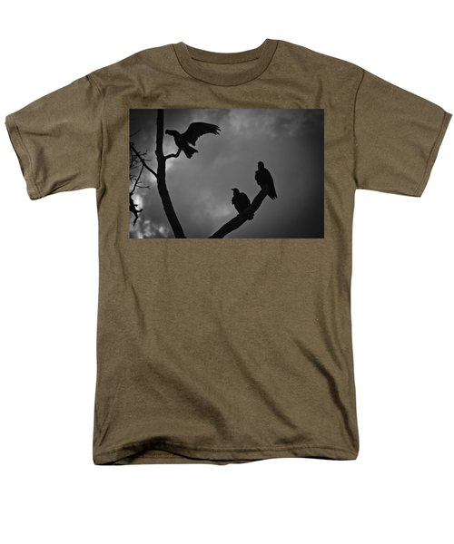 Men's T-Shirt  (Regular Fit) featuring the photograph Three Vultures by Bradley R Youngberg