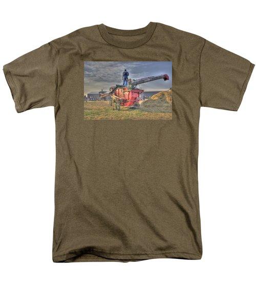 Threshing At Rollag Men's T-Shirt  (Regular Fit) by Shelly Gunderson