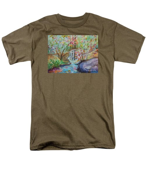 Men's T-Shirt  (Regular Fit) featuring the painting Thunder Mountain Mystery by Ellen Levinson