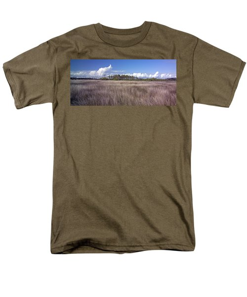 Men's T-Shirt  (Regular Fit) featuring the photograph Tidal Marsh On Roanoke Island by Greg Reed