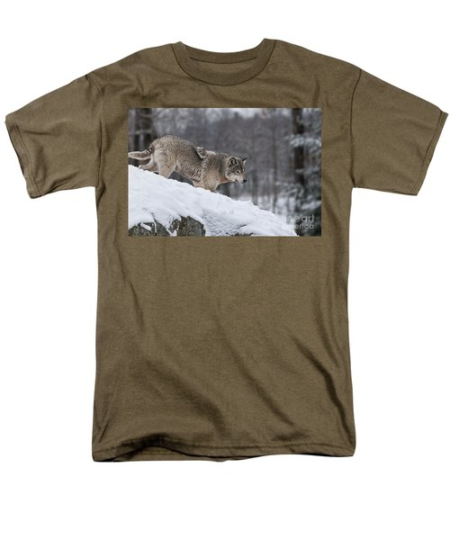 Men's T-Shirt  (Regular Fit) featuring the photograph Timber Wolf On Hill by Wolves Only