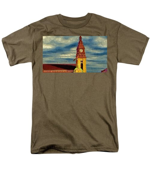 Men's T-Shirt  (Regular Fit) featuring the painting Time To Go by Jeff Kolker