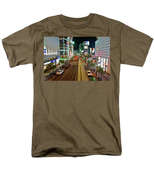 Men's T-Shirt  (Regular Fit) featuring the photograph Tokyo Neon Streaks by Jonah  Anderson