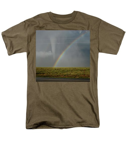 Tornado And The Rainbow Men's T-Shirt  (Regular Fit) by Ed Sweeney