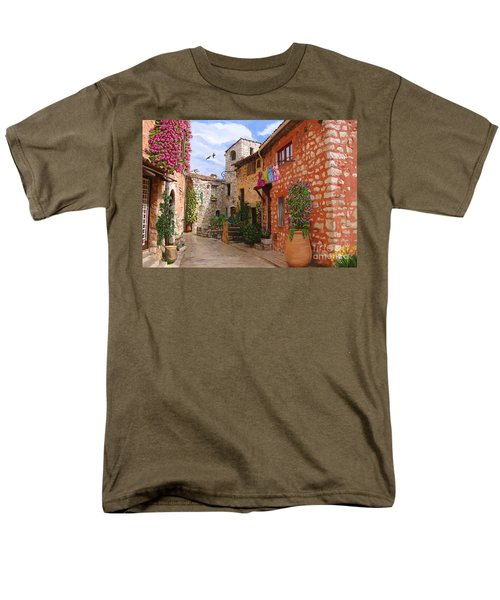 Men's T-Shirt  (Regular Fit) featuring the painting Tourettes Sur Loup France by Tim Gilliland