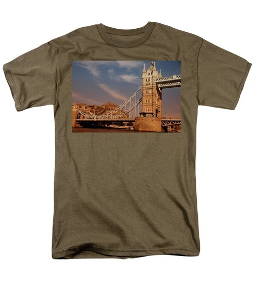 Tower Bridge Sunset Men's T-Shirt  (Regular Fit) by Jonah  Anderson