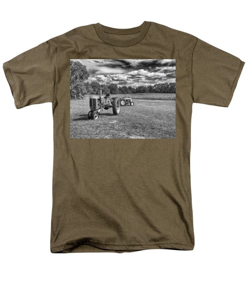Men's T-Shirt  (Regular Fit) featuring the photograph Tractors by Howard Salmon