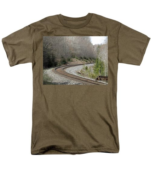 Train It Coming Around The Bend Men's T-Shirt  (Regular Fit) by Brenda Brown