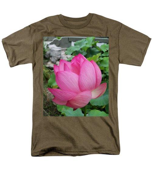 Tranquil Lotus  Men's T-Shirt  (Regular Fit) by Lingfai Leung