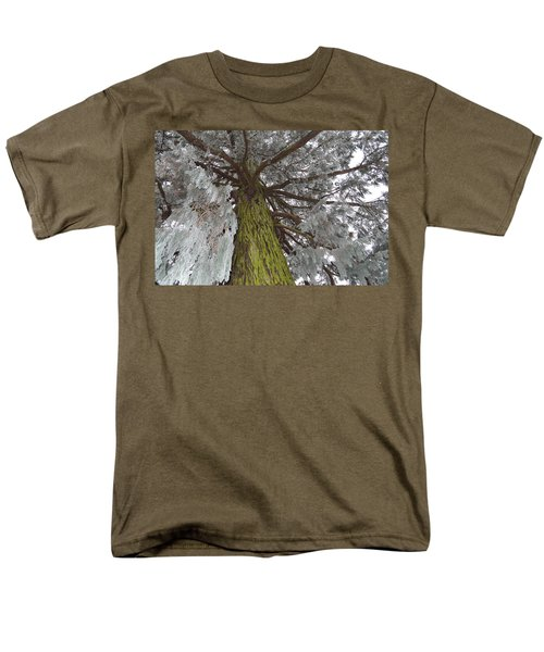 Men's T-Shirt  (Regular Fit) featuring the photograph Tree In Winter by Felicia Tica