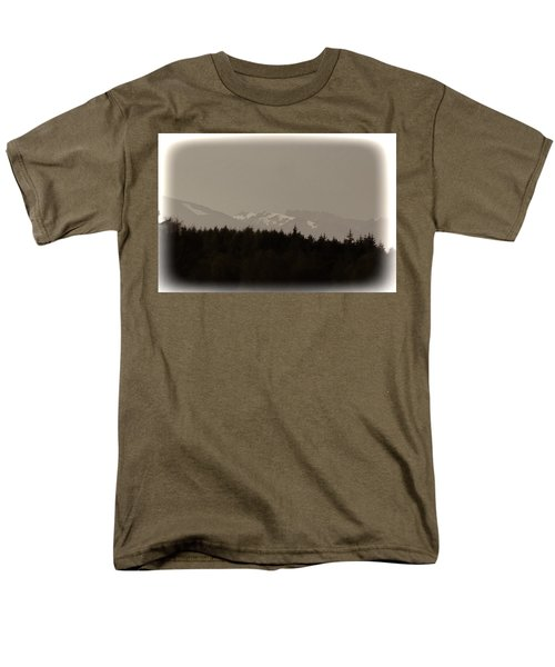 Treeline With Ice Capped Mountains In The Scottish Highlands Men's T-Shirt  (Regular Fit) by Ashish Agarwal
