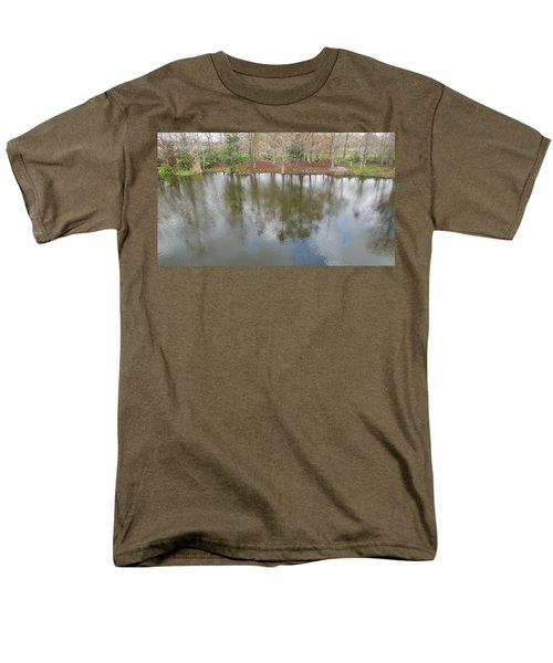 Men's T-Shirt  (Regular Fit) featuring the photograph Trees And Water by Ron Davidson