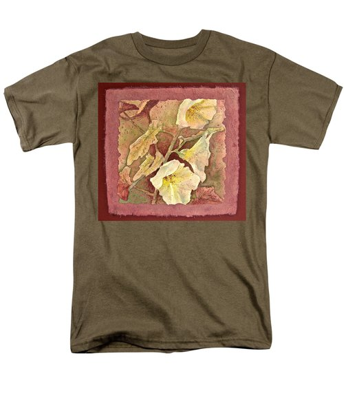 Men's T-Shirt  (Regular Fit) featuring the painting Triple White by Carolyn Rosenberger