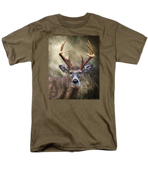 Men's T-Shirt  (Regular Fit) featuring the digital art Trophy 10 Point Buck by Mary Almond