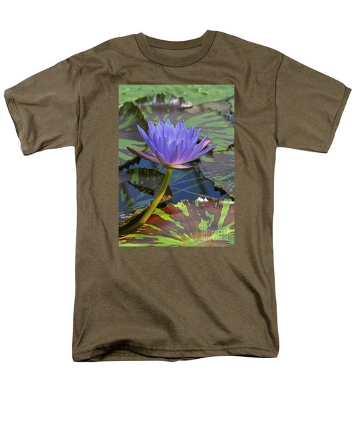 Men's T-Shirt  (Regular Fit) featuring the photograph Tropic Water Lily 15 by Rudi Prott