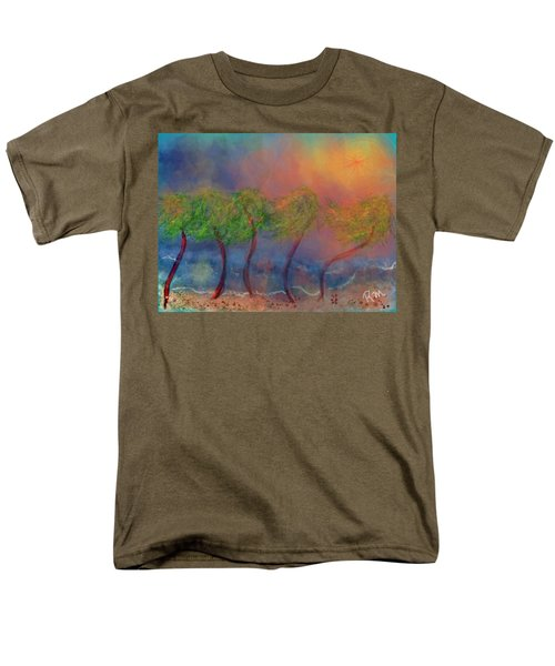Tropical Sorm On The Way Out Men's T-Shirt  (Regular Fit) by Renee Michelle Wenker