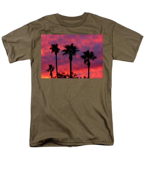 Tropical Sunset Men's T-Shirt  (Regular Fit) by Laurel Powell