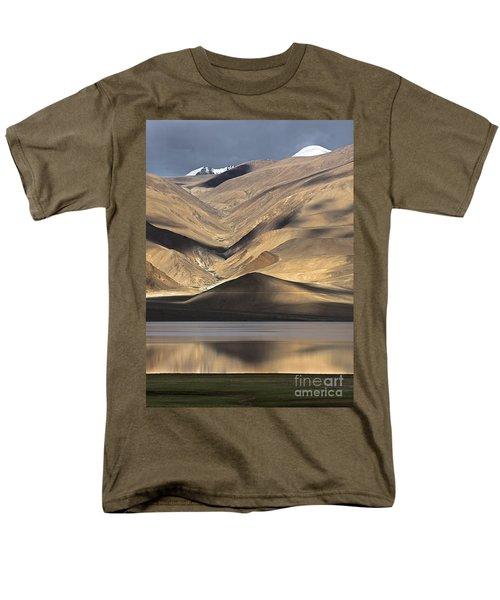 Golden Light Tso Moriri, Karzok, 2006 Men's T-Shirt  (Regular Fit) by Hitendra SINKAR