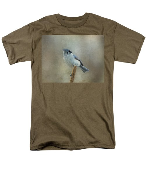 Tufted Titmouse Watching Men's T-Shirt  (Regular Fit) by Sandy Keeton