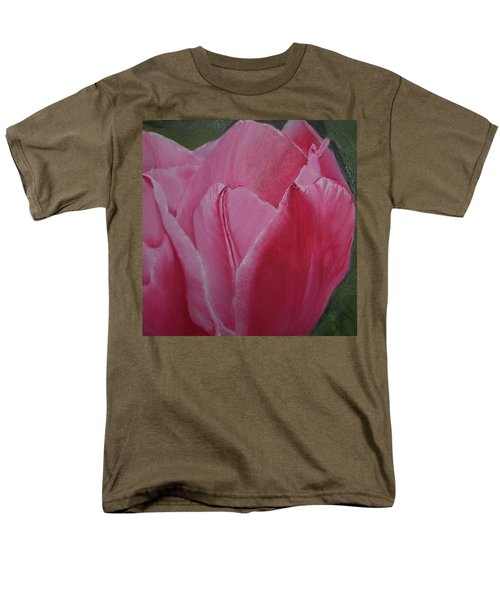 Tulip Blooming Men's T-Shirt  (Regular Fit) by Claudia Goodell