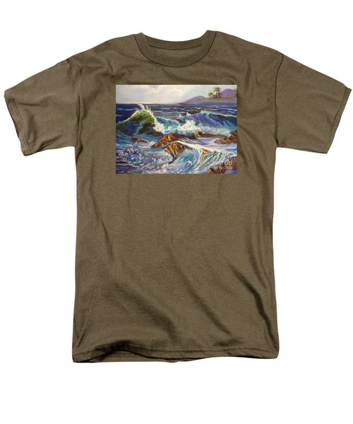 Men's T-Shirt  (Regular Fit) featuring the painting Turbulent Waters Hawaii by Jenny Lee