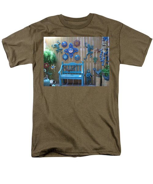 Men's T-Shirt  (Regular Fit) featuring the photograph Turquoise Corner by Dora Sofia Caputo Photographic Art and Design