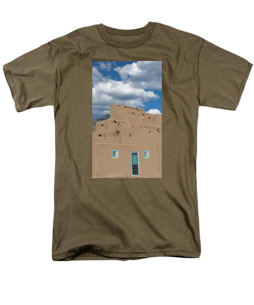 Turquoise Door And Windows Men's T-Shirt  (Regular Fit) by Elvira Butler